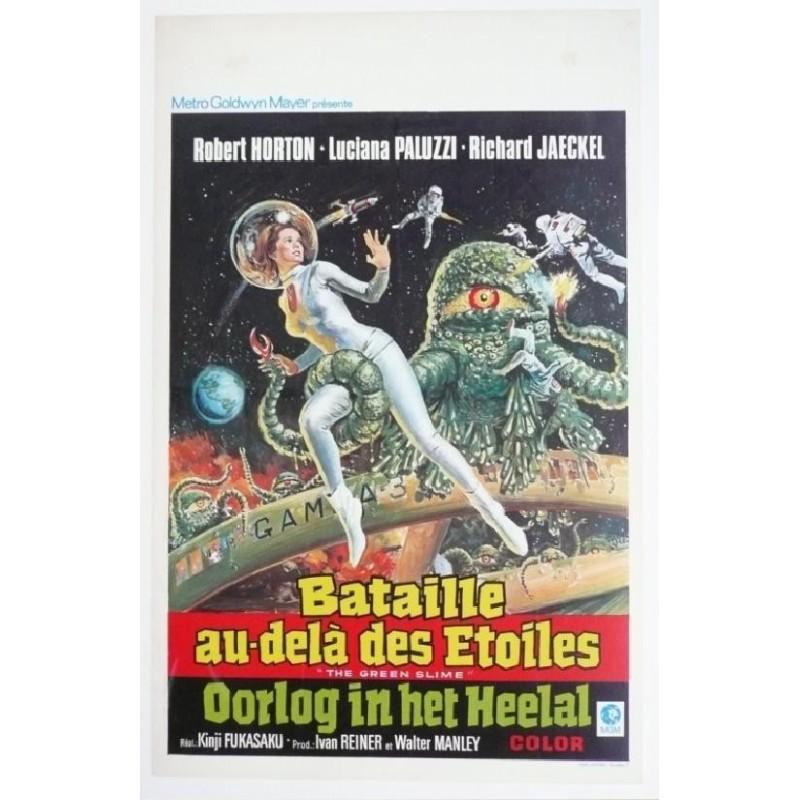 """Affiche originale cinéma belge scifi science fiction """" Bataille au delà des étoiles """""""