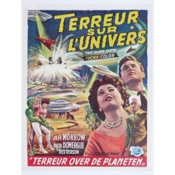 "Affiche originale cinéma belge scifi science fiction "" Terreur sur l'univers "" Universal"