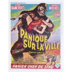 "Affiche originale cinéma belge scifi science fiction "" Panique sur la ville "" 20th century fox"