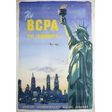 Original vintage poster Fly BCPA to America New York