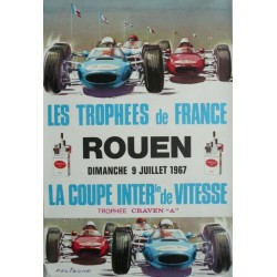 Affiche originale Les trophees de France Rouen 1967 - Michel BELIGOND