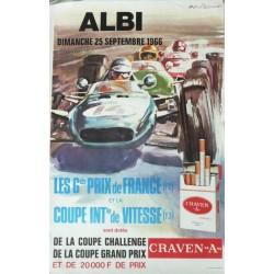 Original vintage poster Albi Les grands prix de France 1966 - Michel BELIGOND