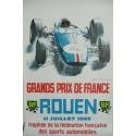 Affiche originale Rouen grands prix de France 1965 - Michel BELIGOND