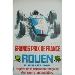 Original vintage poster Rouen grands prix de France 1965 - Michel BELIGOND