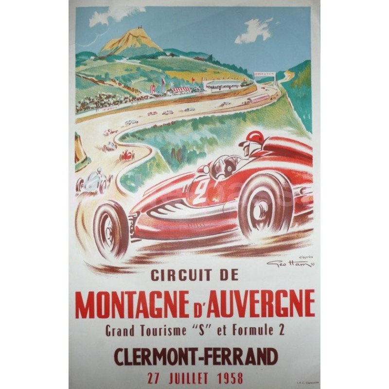 original vintage poster circuit de montagne d 39 auvergne. Black Bedroom Furniture Sets. Home Design Ideas