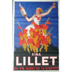 Original vintage poster KINA LILLET 79 x 52 inches - ROBYS
