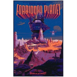 Affiche originale édition limitée variant Planète interdite - Laurent DURIEUX - Galerie Mondo
