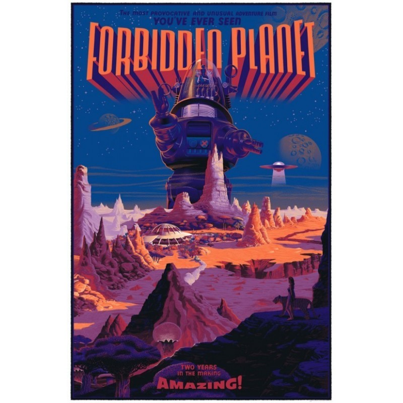 Original silkscreened poster limited variant edition Forbidden Planet - Laurent DURIEUX - Gallery Mondo
