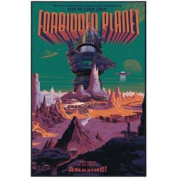 Original silkscreened poster limited edition Forbidden Planet - Laurent DURIEUX - Gallery Mondo