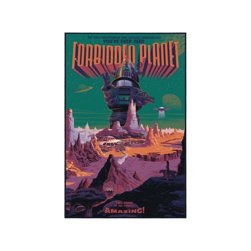 Affiche originale édition limitée Planète interdite - Laurent DURIEUX - Galerie Mondo