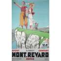 Affiche originale golf PLM Mont Revard par Aix les bains Savoie - Paul Ordner