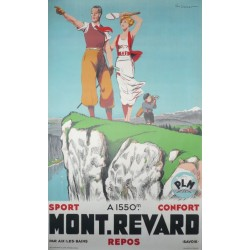 Alt original plakat golf PLM Mont Revard par Aix les bains Savoie - Paul Ordner