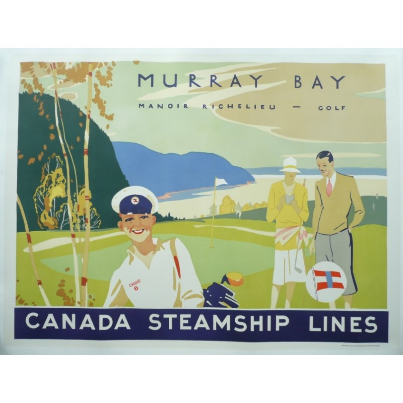 Original vintage poster golf, Murray Bay, Canada Steamship Lines
