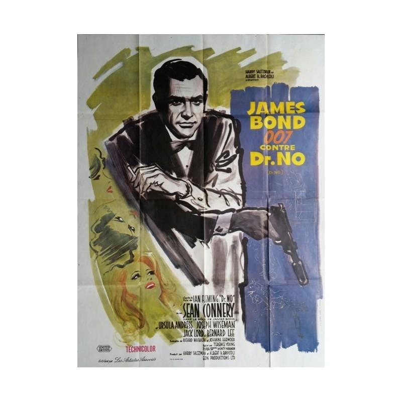 "Original vintage french movie poster James bond "" James bond 007 contre Dr NO "" Sean Connery"
