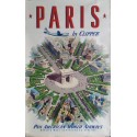 Original vintage poster Pan American PARIS, arc de triomphe