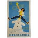 Original vintage poster Chrea Sports d'hiver chemins de fer algérien - F CRESPO