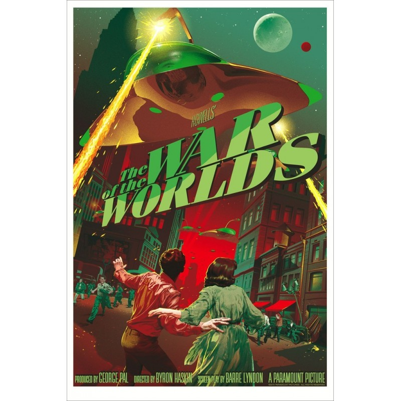 Original silkscreened poster variant limited edition War of the world - Stan & Vince - Galerie Mondo