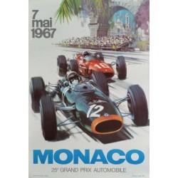 Original viejo cartel Grand Prix de Monaco F1 1967 - Michael TURNER