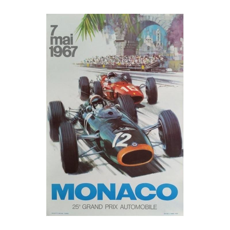 Original vintage poster Grand Prix de Monaco F1 1967 - Michael TURNER