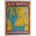 Affiche originale Golf Courses Glasgow & South Western Railway - Troon Turnberry