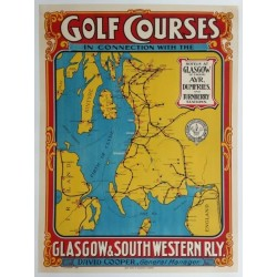 Affiche originale Golf Courses Glasgow & South Western Railway - Troon Turnberry