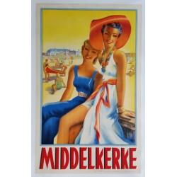 Affiche originale Middelkerke - 1938 - Roger BERMANS