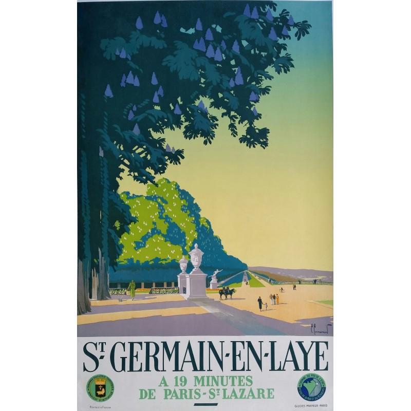 Affiche originale saint germain en laye paris pierre - Office de tourisme de saint germain en laye ...