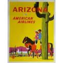 Original vintage travel poster American Airlines Arizona - Fred Ludekens