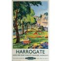 Affiche ancienne originale Harrogate british railways 1953 - Kenneth STEEL