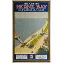 Affiche ancienne originale Southern Railway Herne bay on the kentish coast