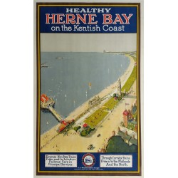 Original vintage poster Southern Railway Herne bay on the kentish coast