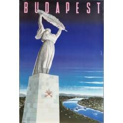 Alt original plakat Budapest circa 1950 - Káldor László