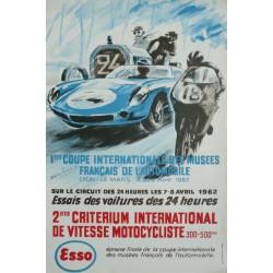 Original vintage poster essais des 24 heures du Mans 4 au 6 avril 1962 - BELIGOND