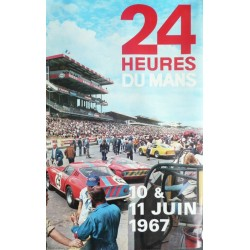 Affiche originale 24 heures du Mans 1967 Photo André Delourmel
