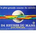 Affiche originale 24 heures du Mans 1974 - J Jacquelin