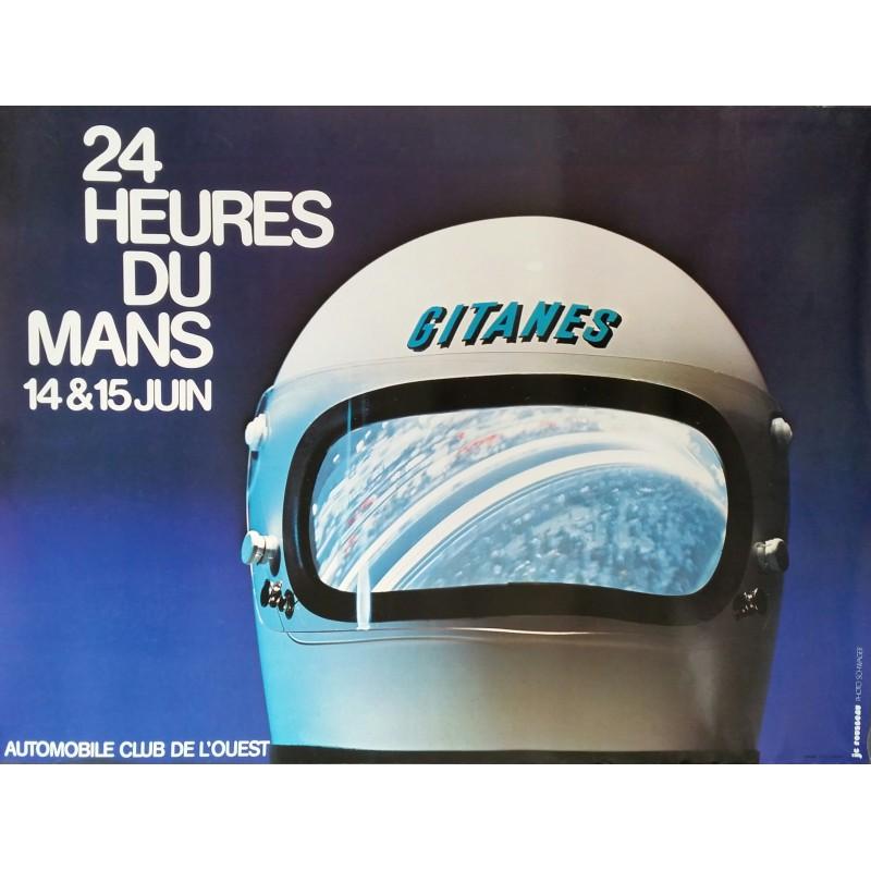 Affiche originale 24 heures du Mans 1975 - JC Rousseau Photo SCHWAGER