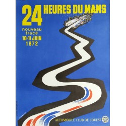 Original vintage poster 24 heures du Mans 1972 - J Jacquelin