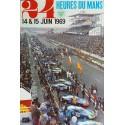 Affiche originale 24 heures du Mans 1969 Photo André Delourmel