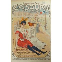 Original vintage poster Cabourg Casino Billets de bains de mer - MISTI