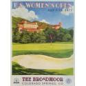 Affiche originale US Women's Open Golf USGA The Broadmoor July 2011 - Lee Wybranski