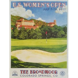 Affiche originale US Women's Open Golf USGA The Broadmoor July 2011 - Lee Wybranski