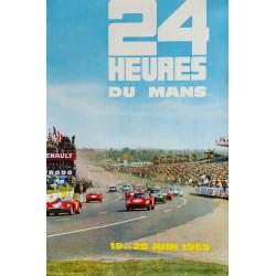 Affiche originale 24 heures du Mans 1965 Photo André Delourmel