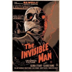 Original silkscreened poster limited edition Invisible Man - Francesco FRANCAVILLA - Gallery Mondo