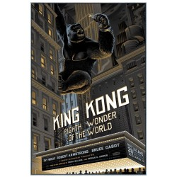Original silkscreened poster limited edition King Kong - Laurent DURIEUX - Gallery Mondo
