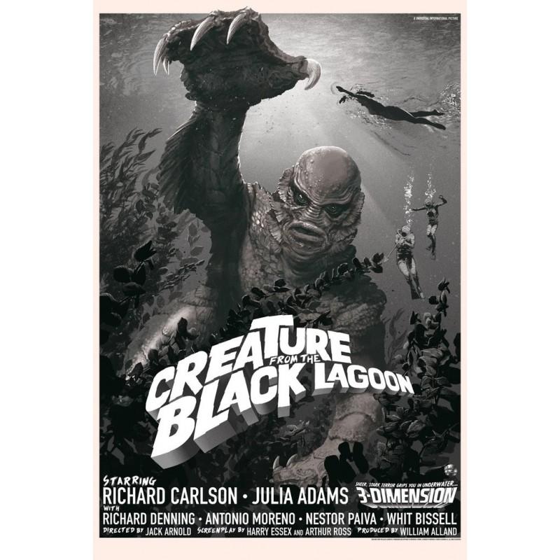 Affiche originale édition variant limitée Creature from the Black Lagoon - Stan & Vince - Galerie Mondo
