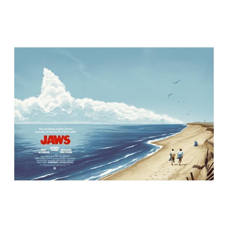 Original silkscreened poster limited edition regular JAWS - Galerie Mondo - Phantom City Creative