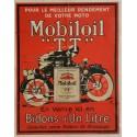 Affiche ancienne originale Mobiloil TT pour le meilleur rendement de votre moto
