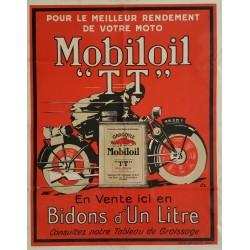 Original vintage motorcycle poster Mobiloil TT pour le meilleur rendement de votre moto