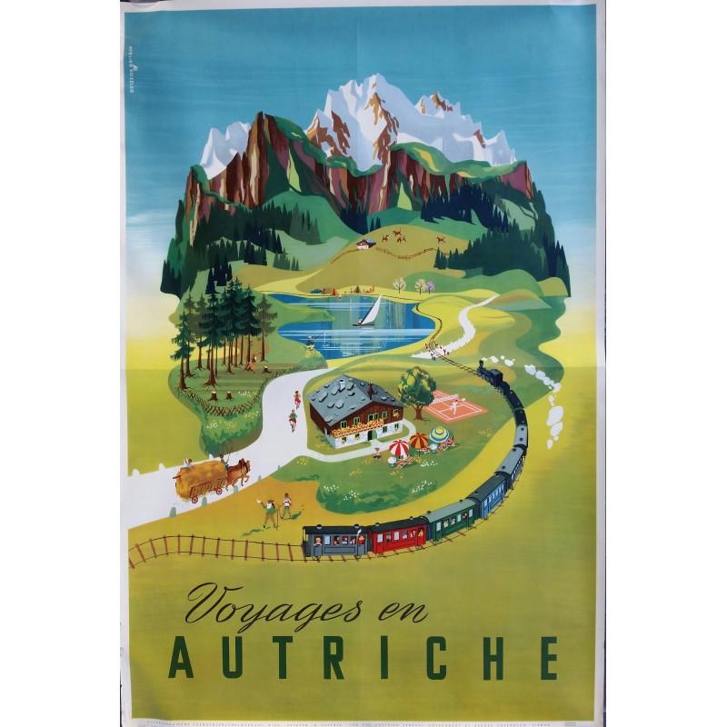 Affiche ancienne originale Voyages en Autriche - Atelier KOSZLER