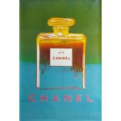 Original manifesto Chanel n° 5 verde e blu - 170 cms x 120 cms - Andy WARHOL
